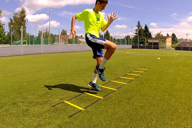 Five soccer speed ladder exercises